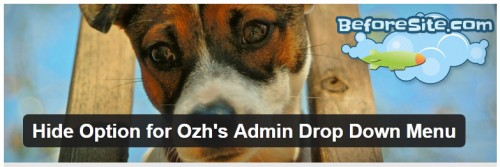 Hide Option for Ozh's Admin Drop Down Menu