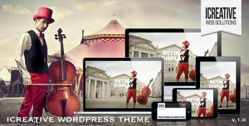 iCreative - OnePage Portfolio WordPress Theme