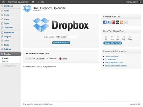 RAD Dropbox Uploader