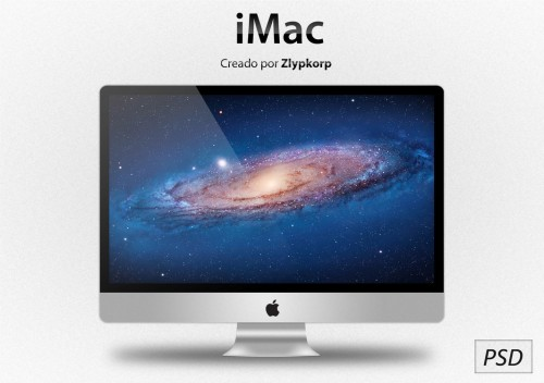 Amazing iMac PSD File