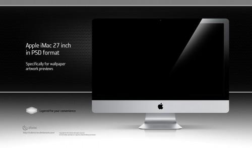 Apple iMac 27 inch PSD