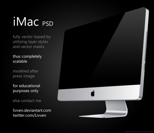 Apple iMac PSD