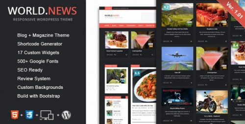 WorldNews - Responsive WordPress Blog\Magazine