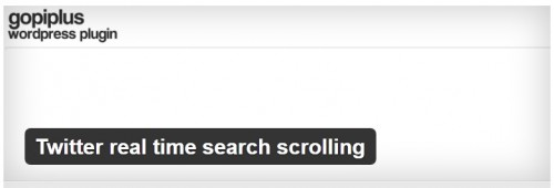 Twitter Real Time Search Scrolling