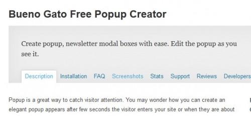 Bueno Gato Free Popup Creator