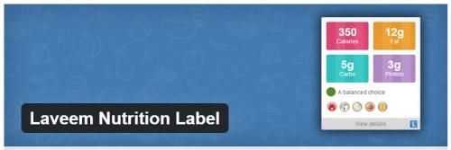 Laveem Nutrition Label