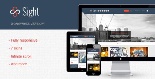 Sight - Infinite Blogging WordPress Theme