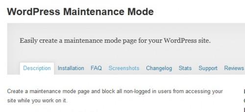 WordPress Maintenance Mode