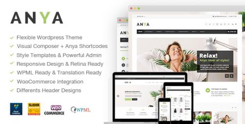 Anya - Fresh Business & Ecommerce WordPress Theme