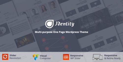 Identity - Multi-Purpose One Page WordPress Theme