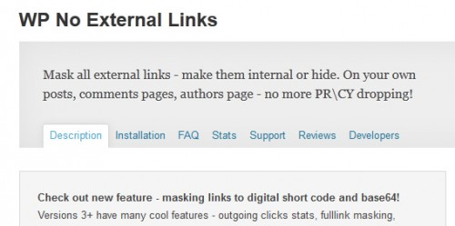 WP No External Links