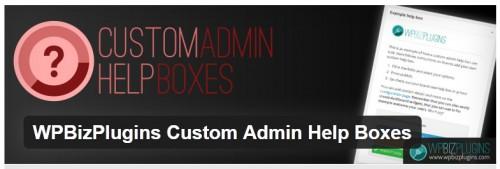 WPBizPlugins Custom Admin Help Boxes