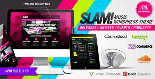 SLAM - Music Band, Musician and Dj WordPress Theme