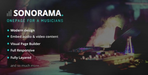 Sonorama - Music Band & Musician WordPress Theme