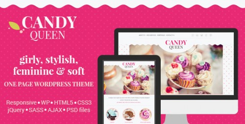 Candy Queen - Responsive Multi-Purpose One Page WordPress Theme