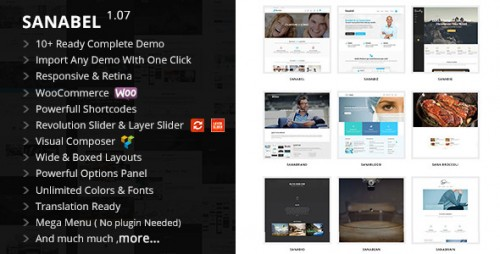 Sanabel - Responsive Multi-Purpose Theme