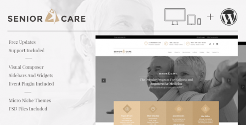 Senior - Health and Medical Care WordPress Theme