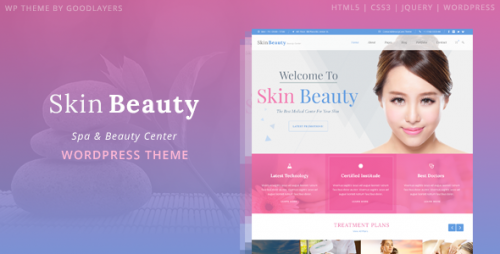 Skin Beauty - Spa, Salon WordPress Theme