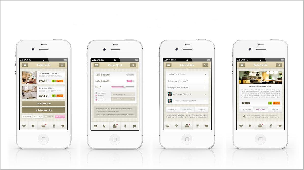 17 Creative List of Free Mobile Apps UI Kits - ThemeSurface
