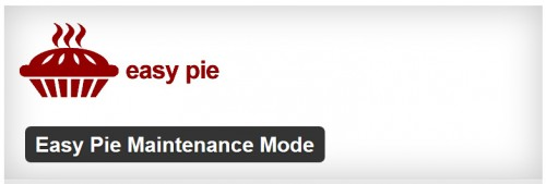 Easy Pie Maintenance Mode