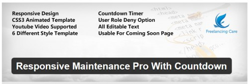 Responsive Maintenance Pro With Countdown