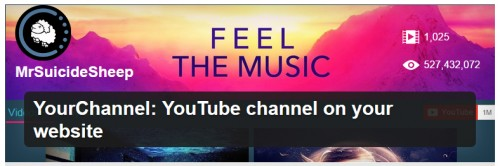 YourChannel: YouTube Channel on Your Website