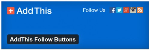 AddThis Follow Buttons