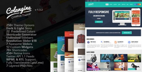 Colangine - Creative Flat WordPress Theme