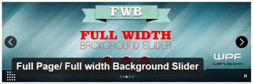 Full Page - Full width Background Slider