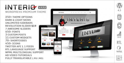 Interio - Responsive Multipurpose WP Theme