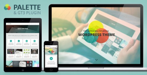 Palette - One Page Parallax WordPress Theme