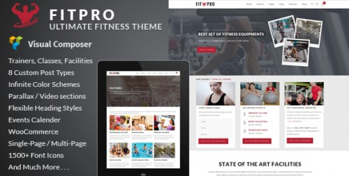 FitPro - Events Fitness Gym Sports WordPress Theme