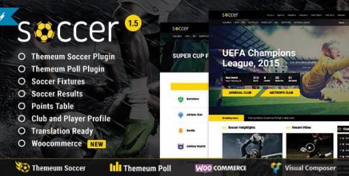 WP Soccer - Sport Team Clubs WordPress Theme