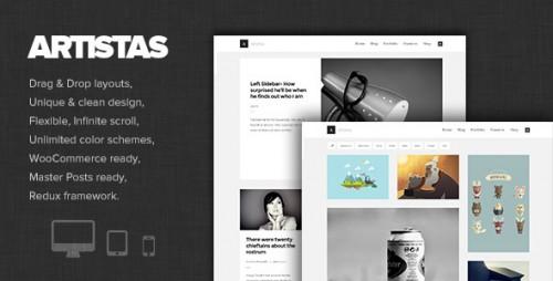 Artistas - Modern Portfolio & Blog Theme