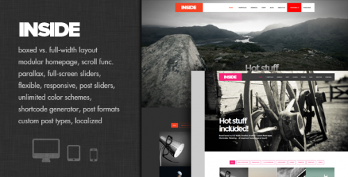 Inside - Creative Parallax and Scroll Theme