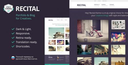 Recital - Portfolio & Blog WordPress Theme for Creatives