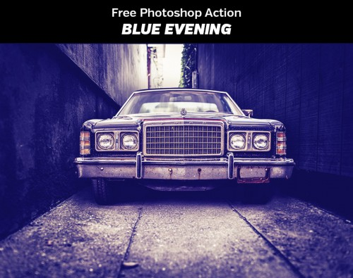 Blue Evening - Free Photoshop Actions