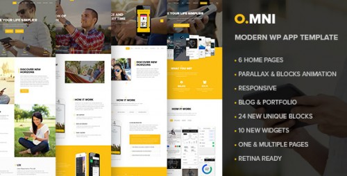 Omni - One and Multipage App WP Theme