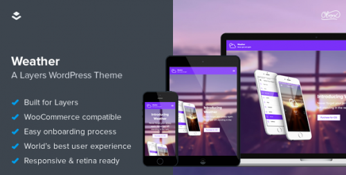 Weather - WordPress App Landing Page Theme