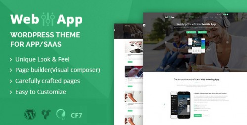 Webapp - App, Saas WordPress Theme