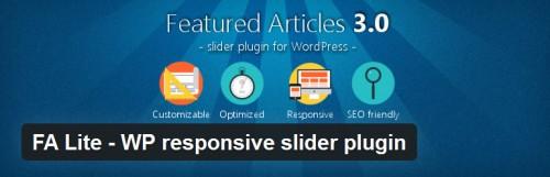 FA Lite - WP Responsive Slider Plugin