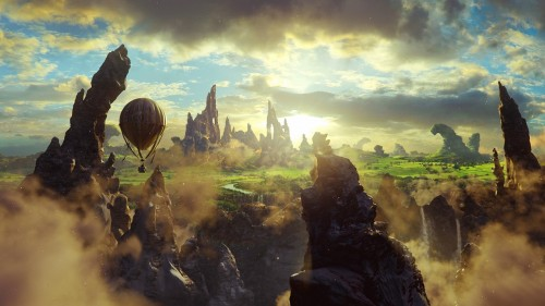 The Great and Powerful Fantasy Cliffs Balloon Sky