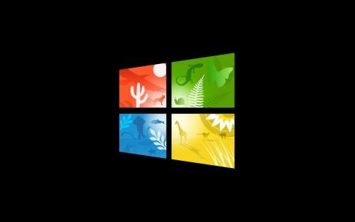 Windows 10 Wallpaper With Scenic Logo
